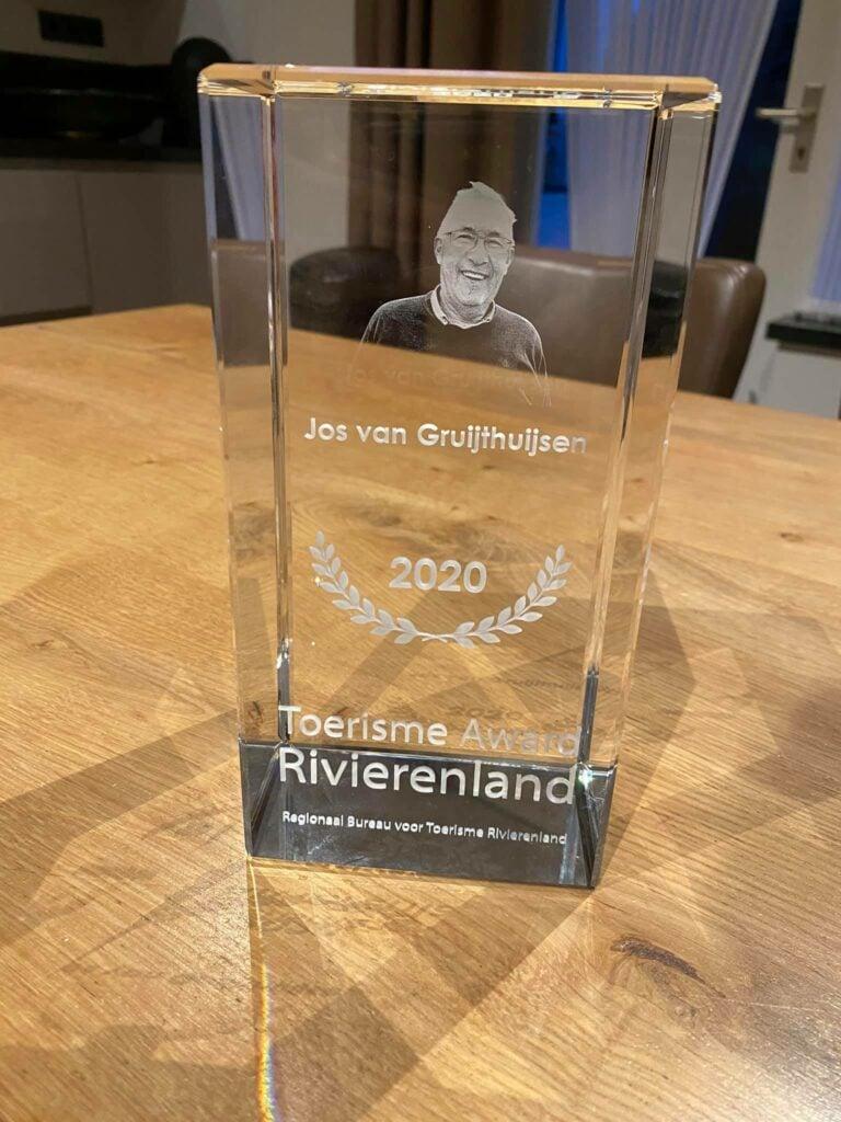 Toerisme Award Rivierenland postuur Jos van Gruijthuijsen